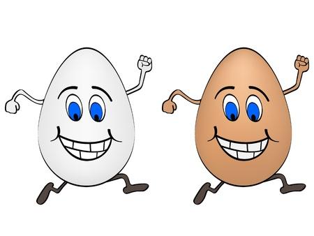 cartoon egg: Happy eggs