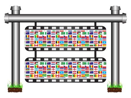 world flags banner Illustration