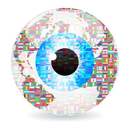 oeil dessin: yeux de monde