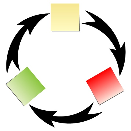 flujo diagrm Ilustración de vector