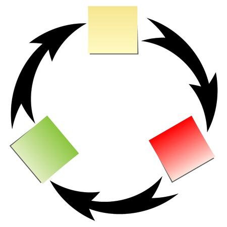 stroom diagrm Vector Illustratie