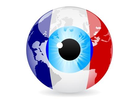eye of france Vector