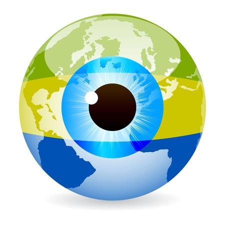 gabon: eye of gabon Illustration