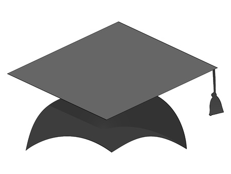 granduation cap Vector