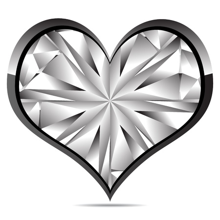 crystal heart Stock Vector - 10287711