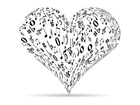 love music: musical heart