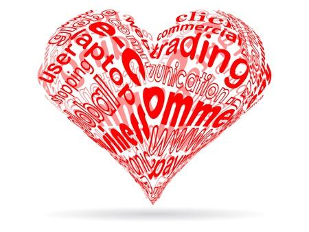 sentiment: red heart Illustration