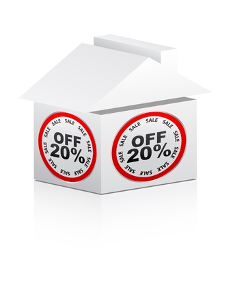twenty percent discount for house  Stock Vector - 10287886