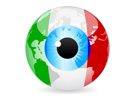 eye of italy Vector