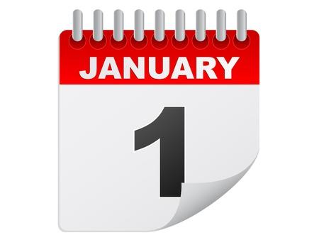enero día Ilustración de vector
