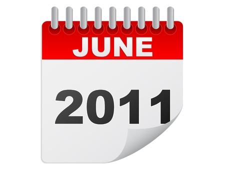 june 2011 Stock Vector - 10287892