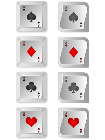 straight flush: poker buttons