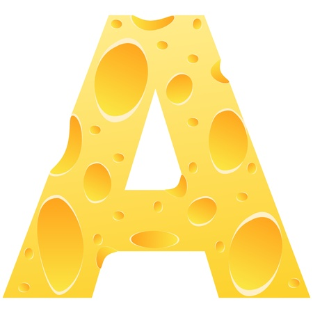 parmesan cheese: letter a Illustration