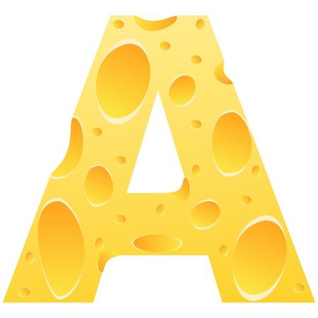 font alphabet: letter a Illustration