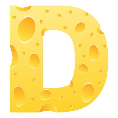 parmesan cheese: letter d