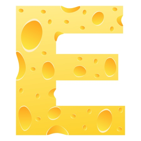 parmesan: letter e Illustration