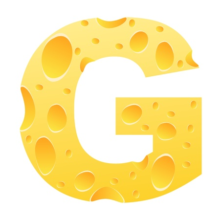 parmesan cheese: letter g Illustration