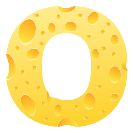 parmesan cheese: letter o Illustration