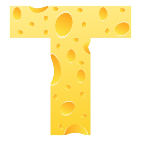 parmesan cheese: letter t Illustration