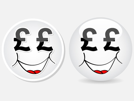cartoon face with money sign  Stock Vector - 10287877