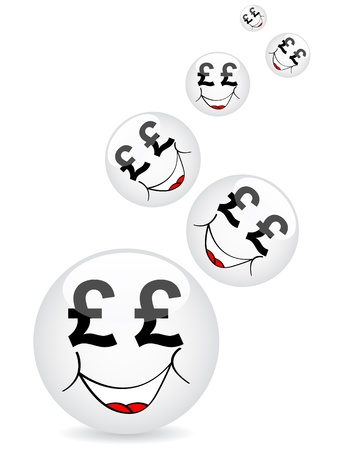 currency cartoon faces Stock Vector - 10287852