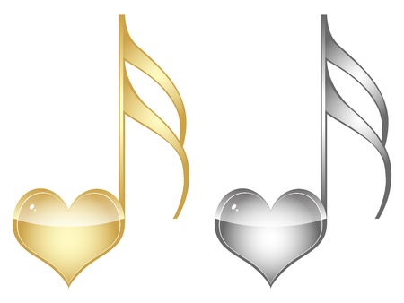 note musicale: amore chiave musicale