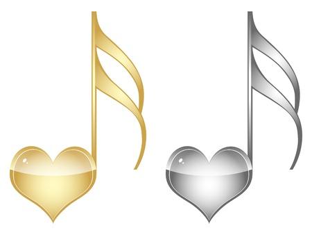 botones musica: clave de amor musical
