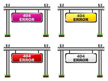 404 error banner Stock Vector - 10288318