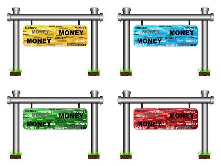 money banner Stock Vector - 10288520