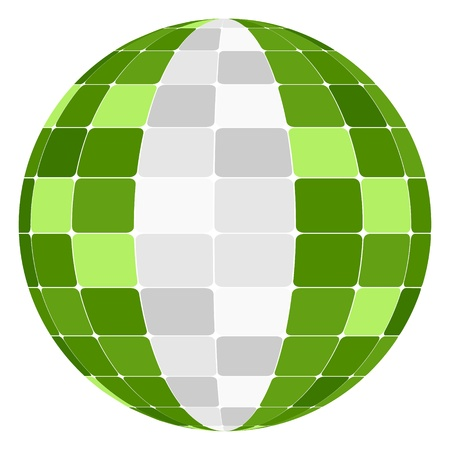 nigerian: nigerian flag Illustration