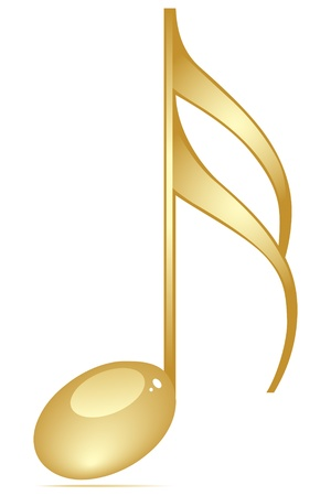 music theory: musicalnote golden color