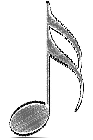 music theory: musical note Illustration