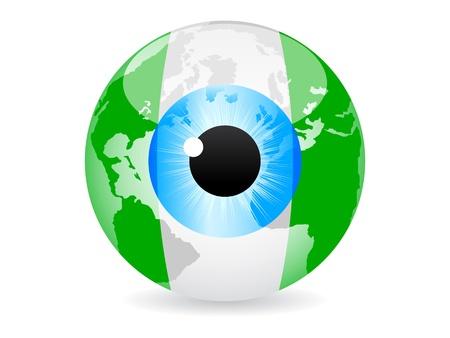 nigeria: eye of nigeria Illustration