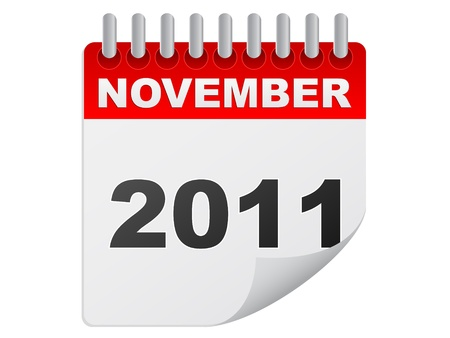 november 2011 Stock Vector - 10287930