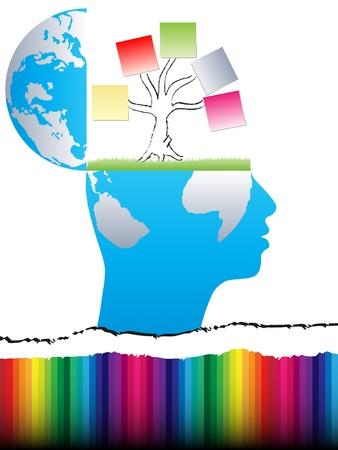 diseño de mente abierta con el árbol de negocio