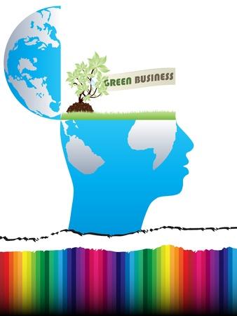 work worker workforce world: open mind design with green business