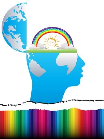 open mind design  Vector
