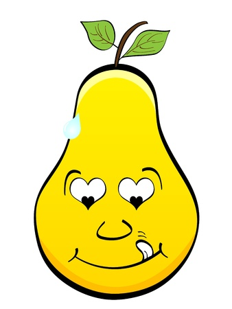 pear in love Vector