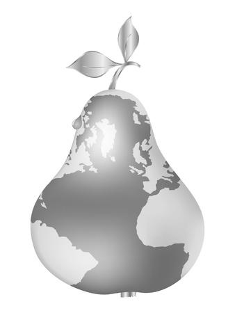 silver pear  Vector