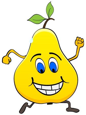 children eating fruit: happy pear