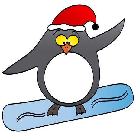 funny surfer: penguin surfing