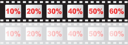 filmstripe with percent Stock Vector - 10287273