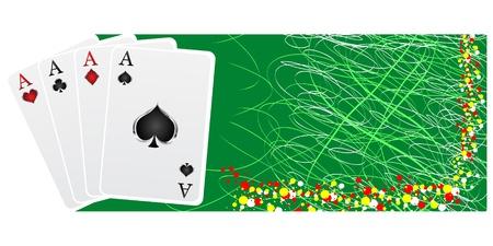 poker banner Stock Vector - 10288247
