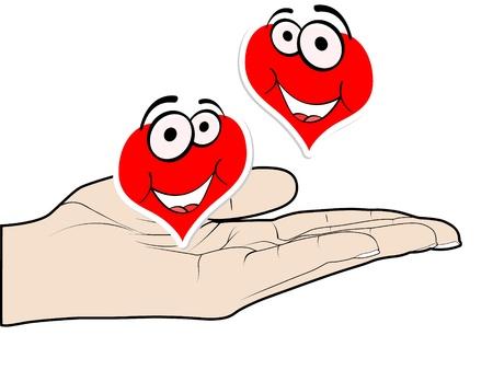 sentiment: poker element - heart Illustration