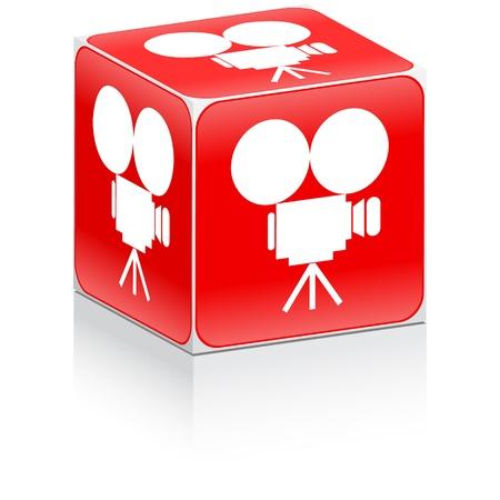 camara de cine: icono de la c�mara de cine