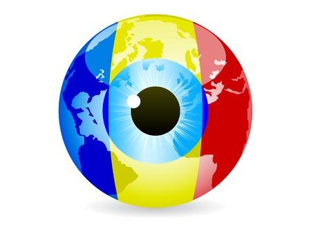 eye of romania Stock Vector - 10288456