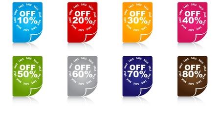 percent discount icons  Vector