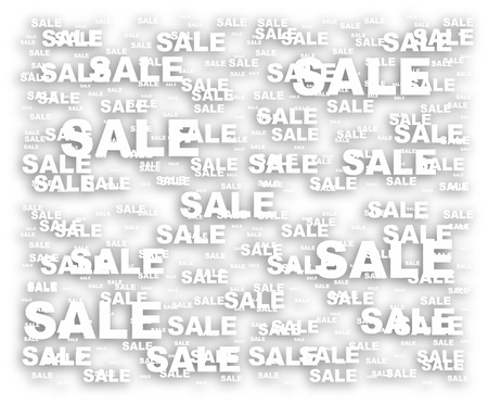 business background made of sale word Stock Vector - 10288778