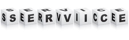 service word Stock Vector - 10287353