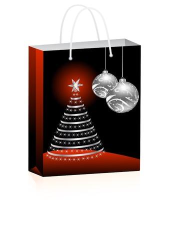 christmas shopping bag Stock Vector - 10288443